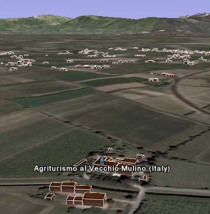 L'agriturismo visto da Google Earth
