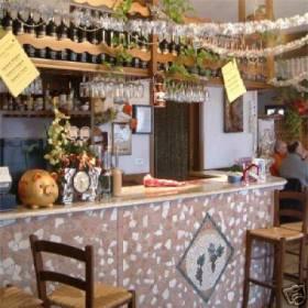Foto del banco del ristorante del Vecchio Mulino